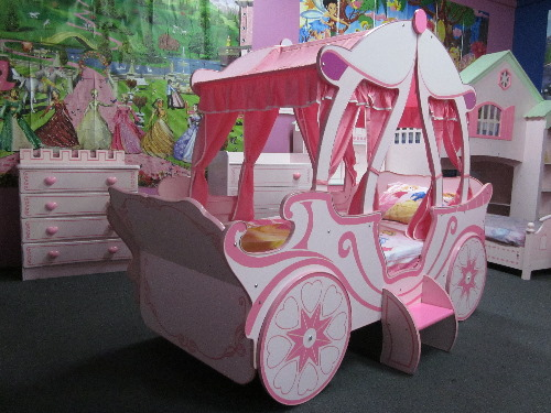 Toddler Bed For Girl Princess: NEW Girls Beds THE Princess Castle Carriage BED FOR Kids