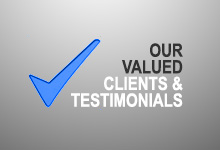 Our valued clients and testimonials
