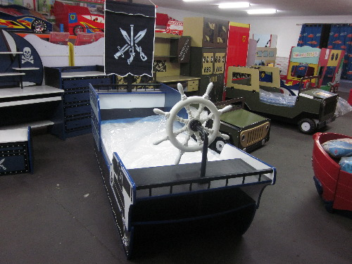 Kids Childrens Pirate Ship Boat Bed