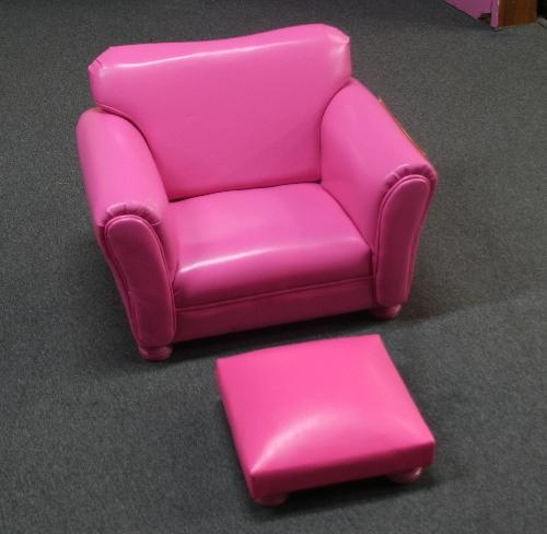 Kids Leather Sofa With Footrest