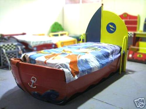 Kids Childrens Boat Bed