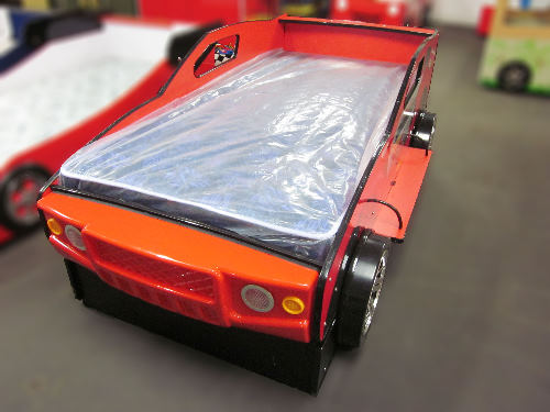 Kids Childrenstrundle Racing Car Bed With Headlights