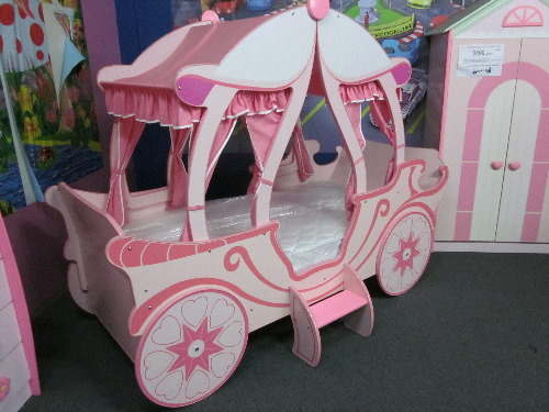 Package Girls Princess Carriage Bed 4 Pieces Bedroom Package